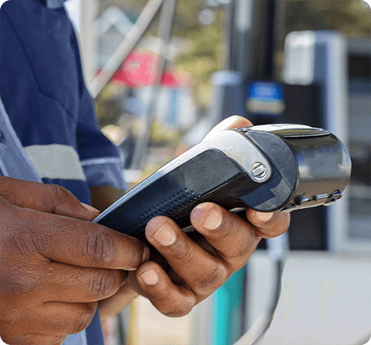petrol station card payment